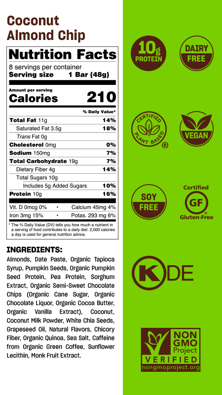 Peanut pack nutritional table